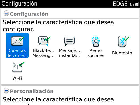 configuracion blackberry vox